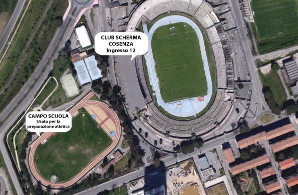 Mappa palestra Club Scherma Cosenza