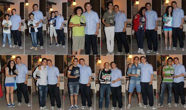 Atleti premiati cena sociale 2013