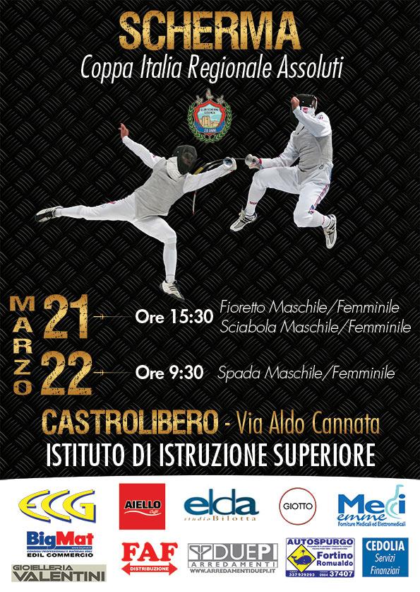 Coppa Italia regionale scherma, 21-22 marzo 2015 Castrolibero