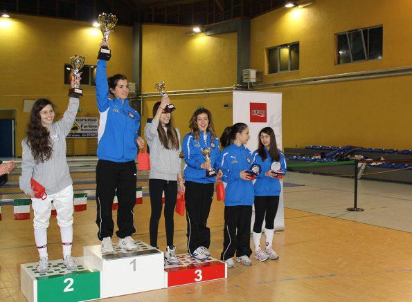 Premiazione fioretto femminile Coppa Calabria 2015