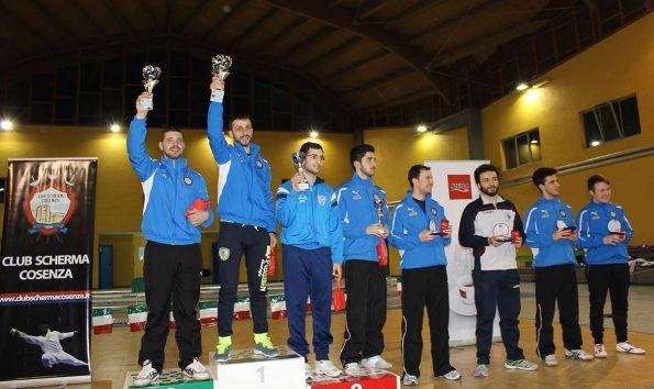 Premiazione fioretto maschile, Coppa Italia 2015