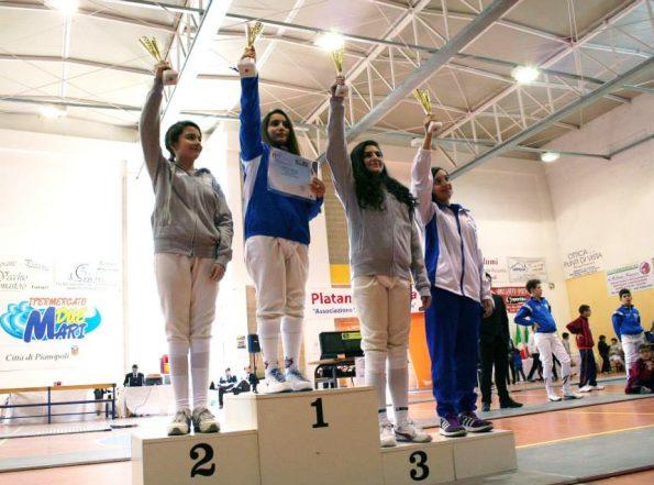 Rinaldi Martina, campionessa regionale Giovanissime fioretto