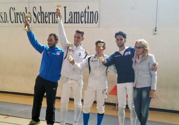 Podio spada maschile Lamezia Terme 2015