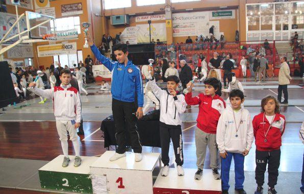 Antonio Barilà vittoria gara scherma Trani