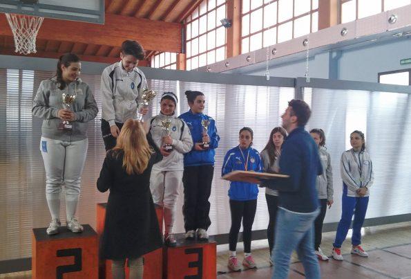 Gara regionale Calabria, podio spada femminile