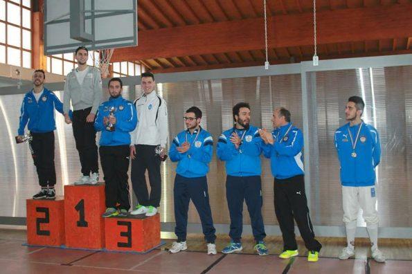 Scherma, 2a prova regionale 2015-16, podio maschile