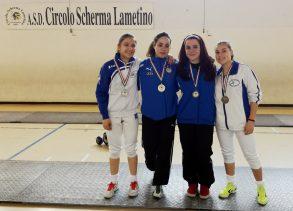 podio spada femminile coppa calabria 2017