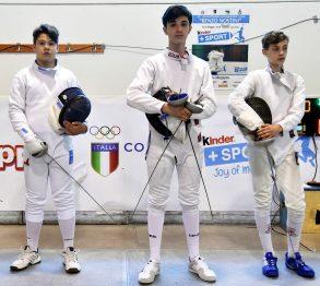 Campionato GPG 2018 a Riccione: spadisti della cat. Allievi