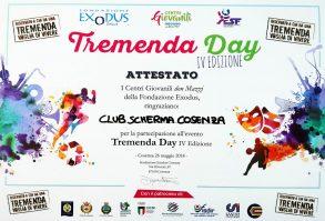 Tremenda Day 2018: l'attestato del Club Scherma Cosenza